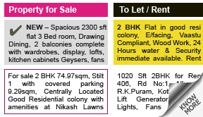 Indian Express Property display classified rates