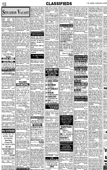 Tribune (Main)  Newspaper Classified Ad Booking